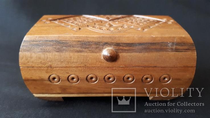 Шкатулка деревянная., фото №2