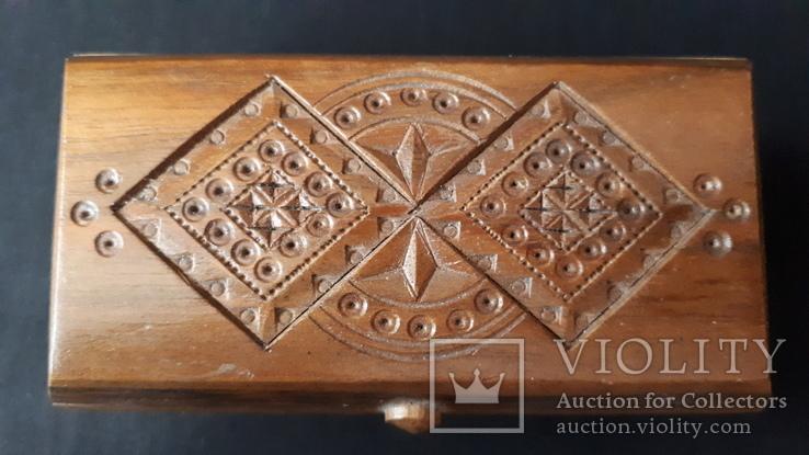 Шкатулка деревянная., фото №3