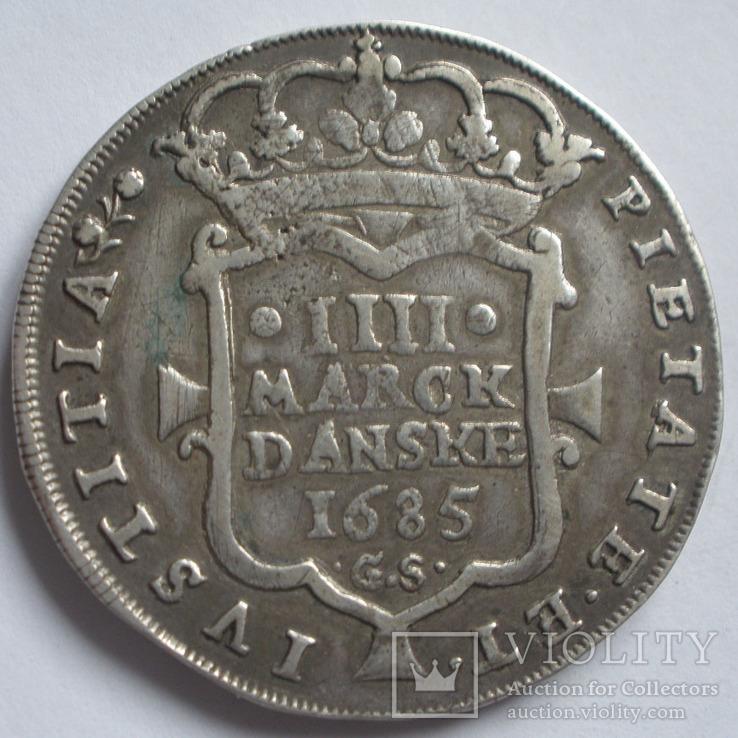 4 Mark Dansk 1685 Christian V