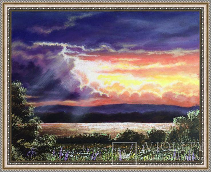 Картина Лучистое сияние, 50х40 см. живопись на холсте, с подписью автора