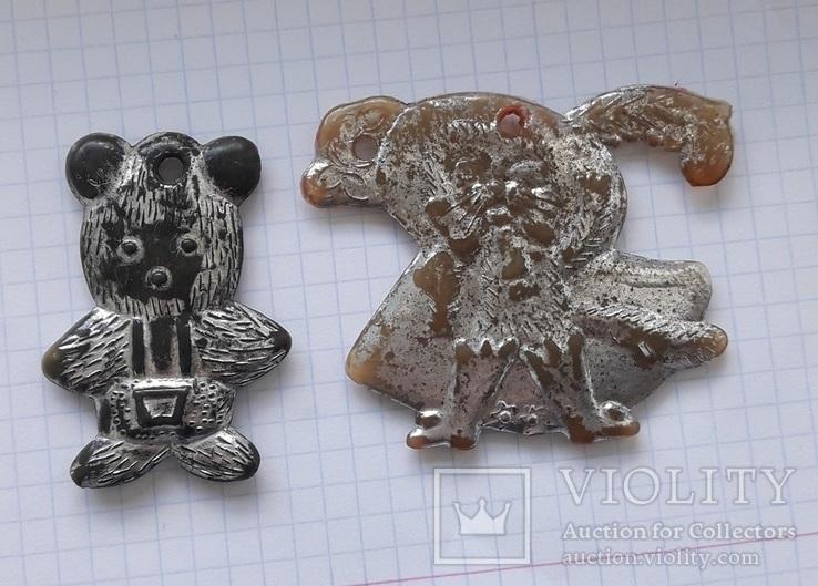 Мишка и кот в сапогах . елочные игрушки ?, фото №2