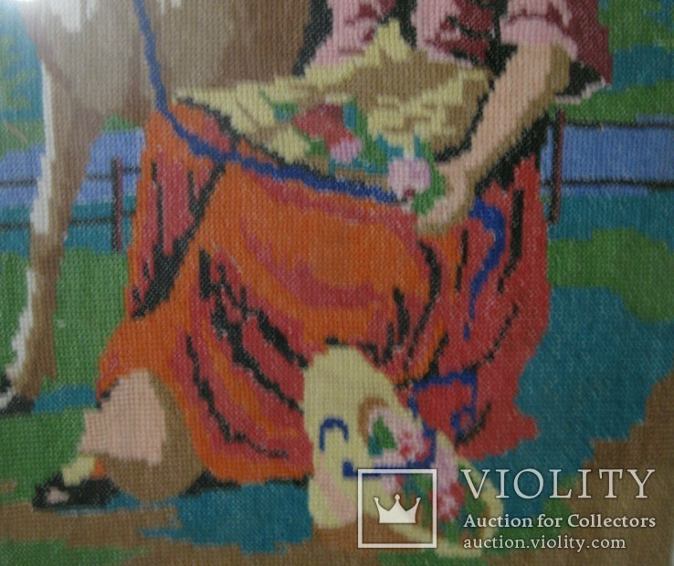 Картина.Девушка и олененок., фото №13