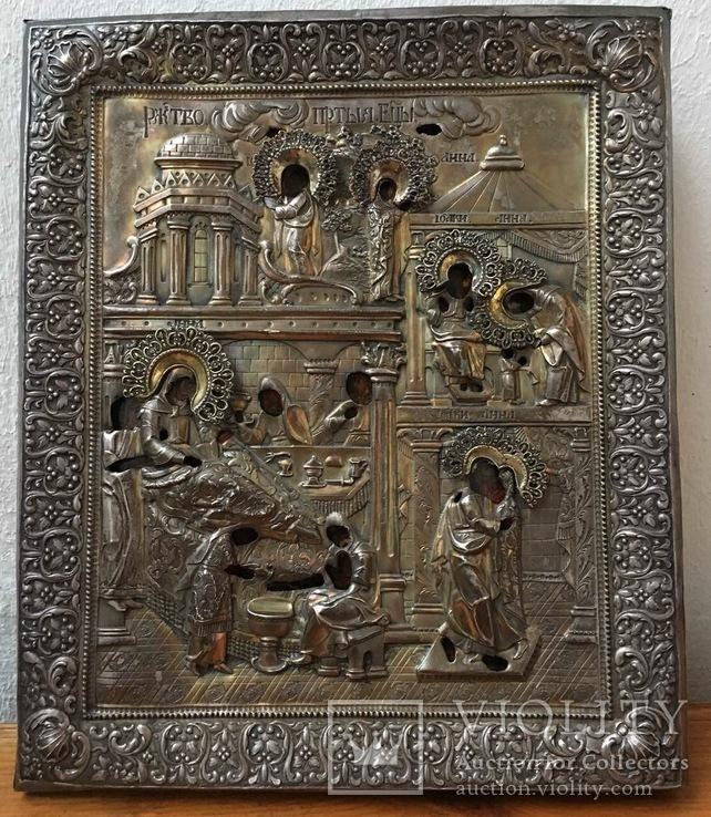 Икона Рождества Богородицы ХVII в. Серебро 84