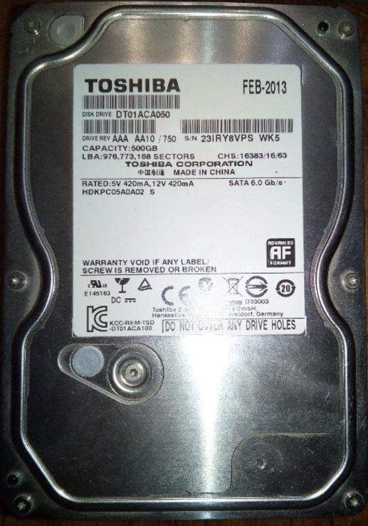 Toshiba 500Gb DT01ACA050