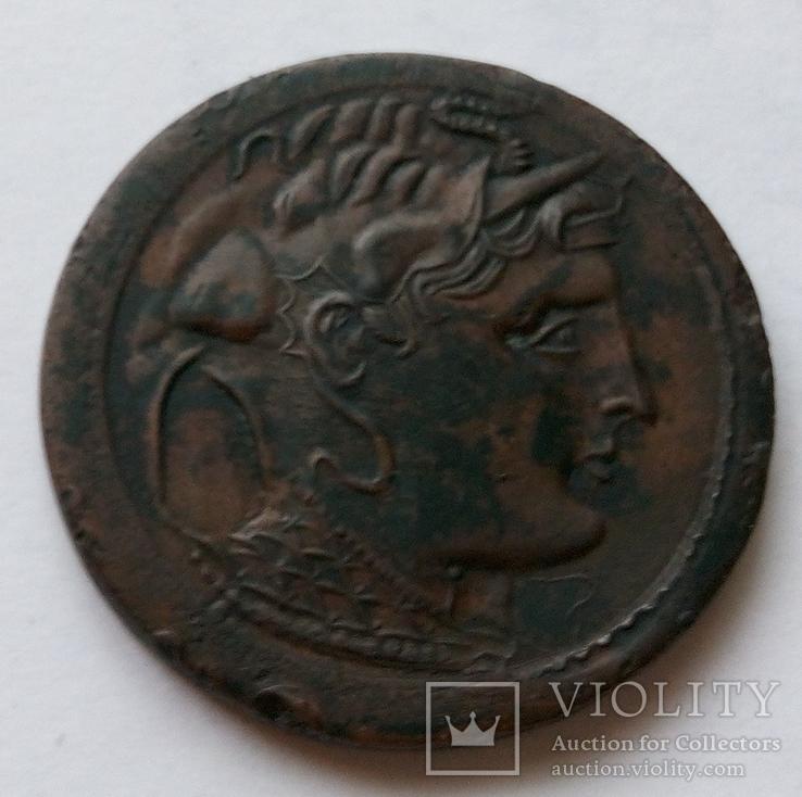 Тетрадрахма Александра Македонского медь копия, фото №2