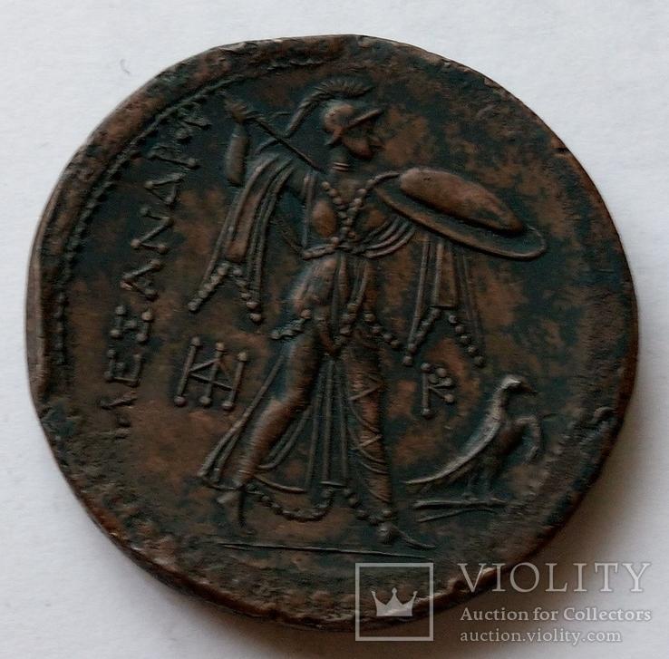 Тетрадрахма Александра Македонского медь копия, фото №3
