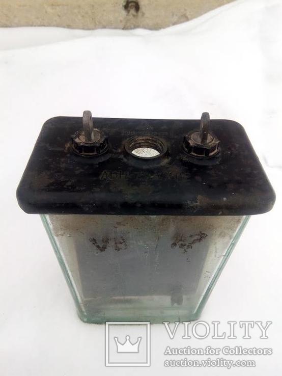 Аккумулятор стеклянный с тепловоза 70-е года, фото №7