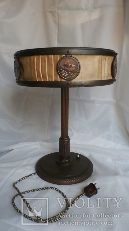 Лампа настольная Адмиральская. Военно-морская. Сталинская лампа.