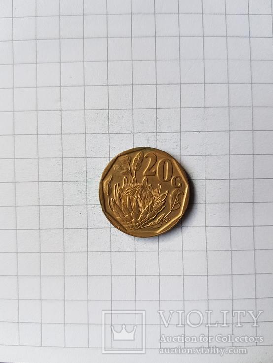 ЮАР, 20 центов 1993 год. N247, фото №2
