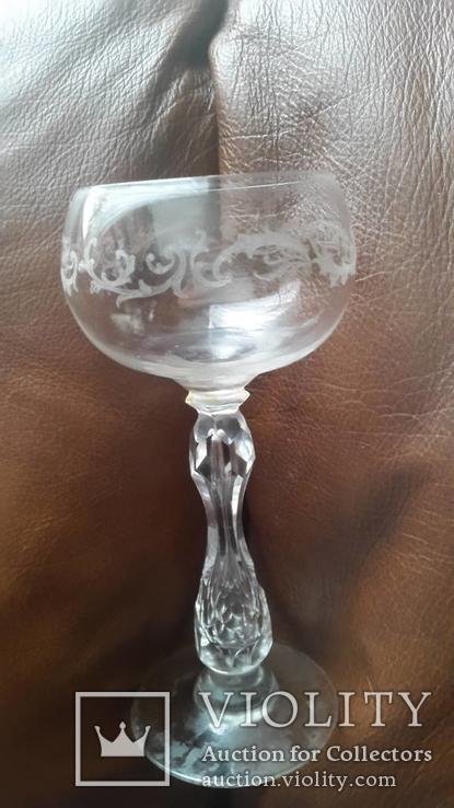 Старинный бокал с гравировкой, фото №6