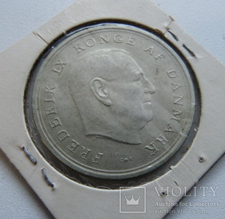Дания 10 крон 1967 год серебро, фото №3