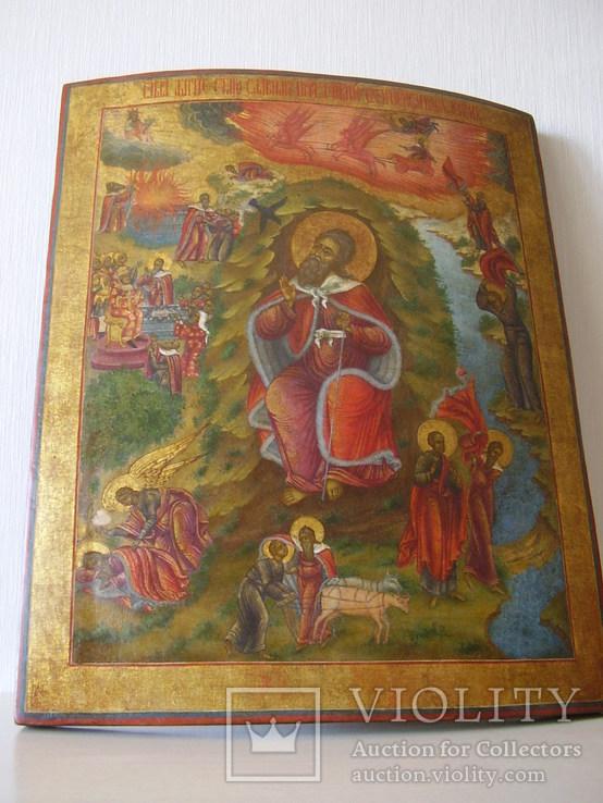 Образ Житие Пророка Илии со Огненным Всхождением