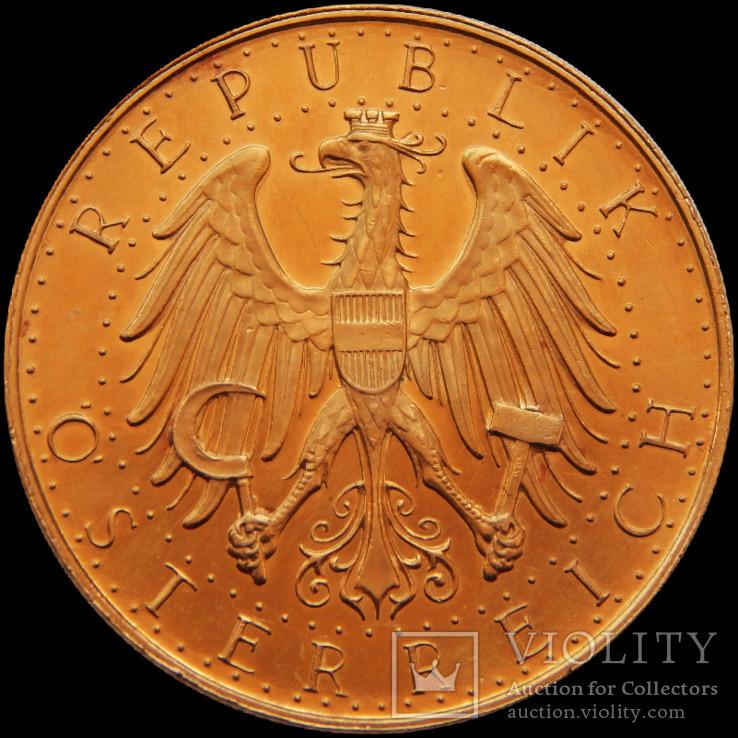 100 шилінгів 1927 року, Австрія. Штемпельна. Золото 23,54 г