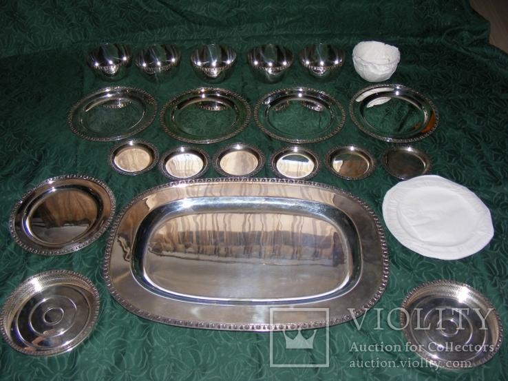 Большой столовый, десертный сервиз (4 кг 670г)