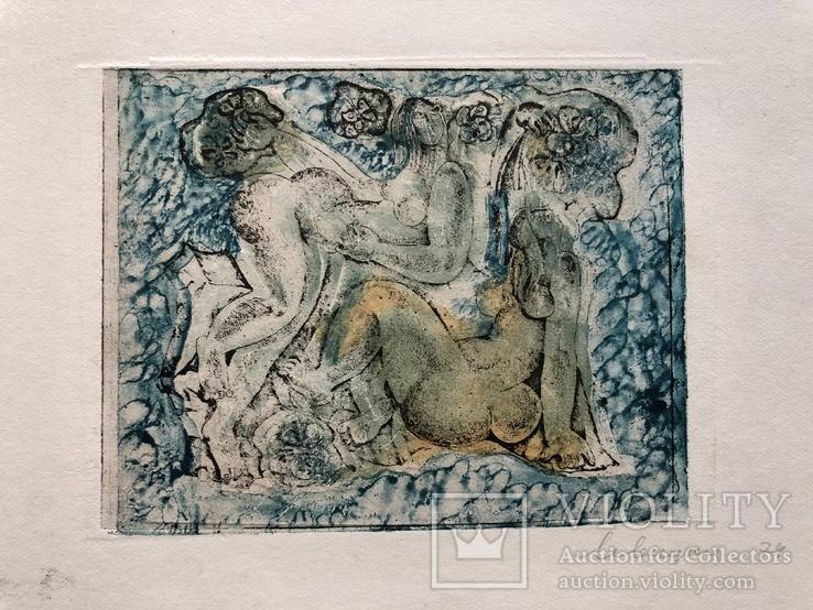 """Генриетта Левицкая, графика """"Девы"""", 1974г."""