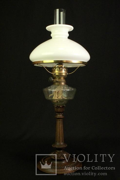 Старая керосиновая лампа. Акционерное об-во Брюннер, Шнейдер и Дитмар. Варшава (0036)