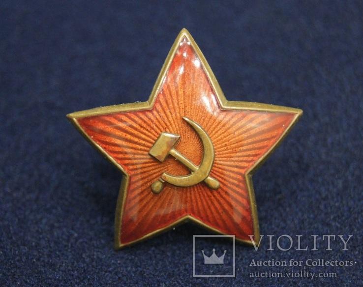 Звезда на головной убор для комначсостава обр.1936 г., 38 мм