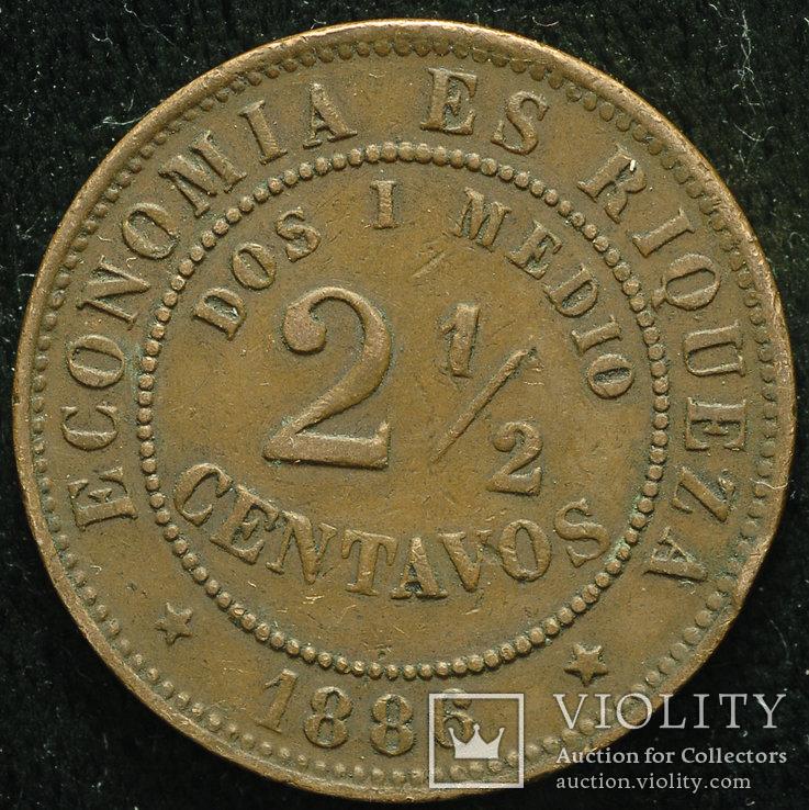 Чили 2 1-2 сентаво 1886