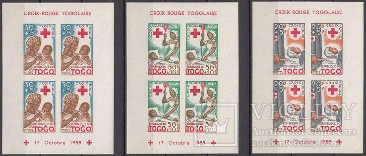 Республика Того 1959 Красный Крест комплект блоков MNH **
