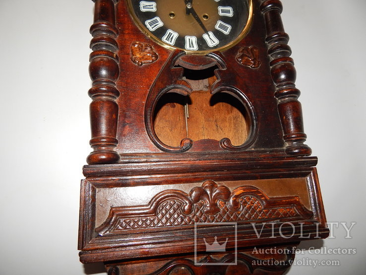 Часы настенные ссср с боем янтарь хенд мейд 0355, фото №5