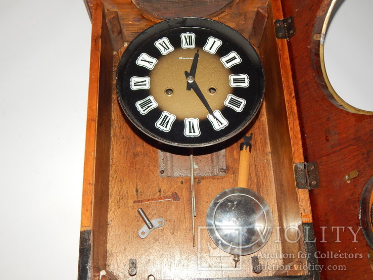 Часы настенные ссср с боем янтарь хенд мейд 0355, фото №7