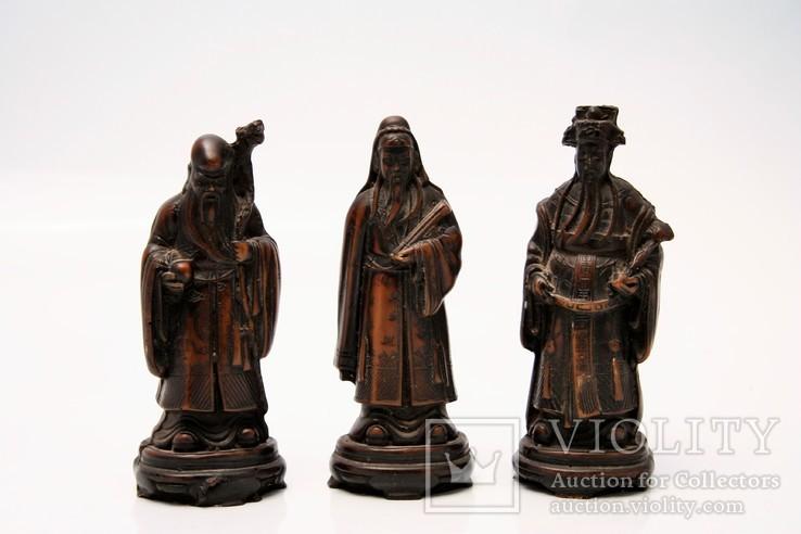 Azjatyckie figurki starców