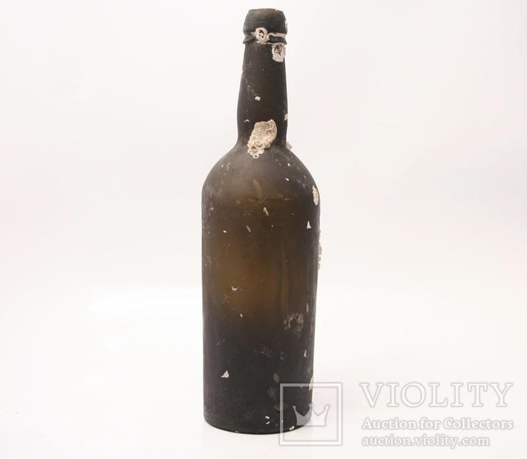 Butelka XIX w. wyłowiona z morza z wapieniem