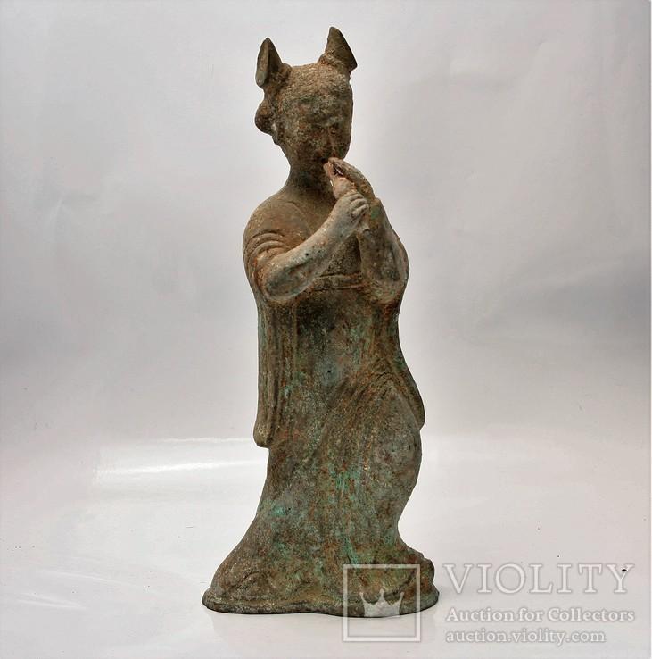 7770f355c7239 Figura Chińska z brązu - wizerunek kobiety - «VIOLITY» Auction for ...