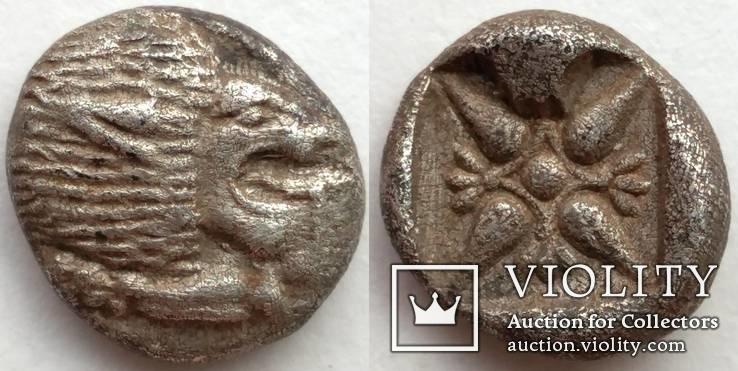 Диобол Ionia Miletos 525-475 гг до н.э. (69_9)