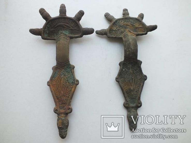 Фибулы пятипалые парные 6-7 век. ( 12 см.)