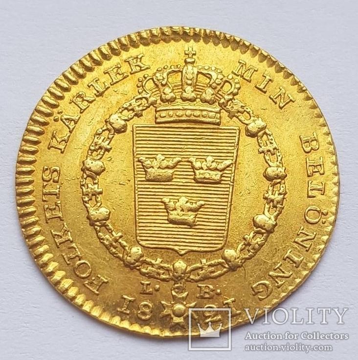 Дукат 1821 г. Швеция