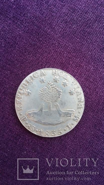 Болівар (8 солей) 1835 року