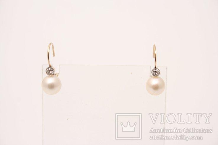 Kolczyki z perłami i diamentami