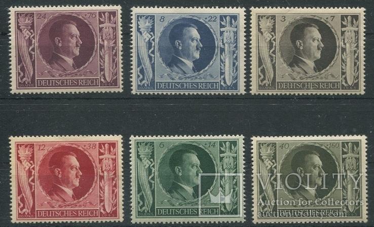 1943 Рейх   54 года Гитлеру полная серия MNH **