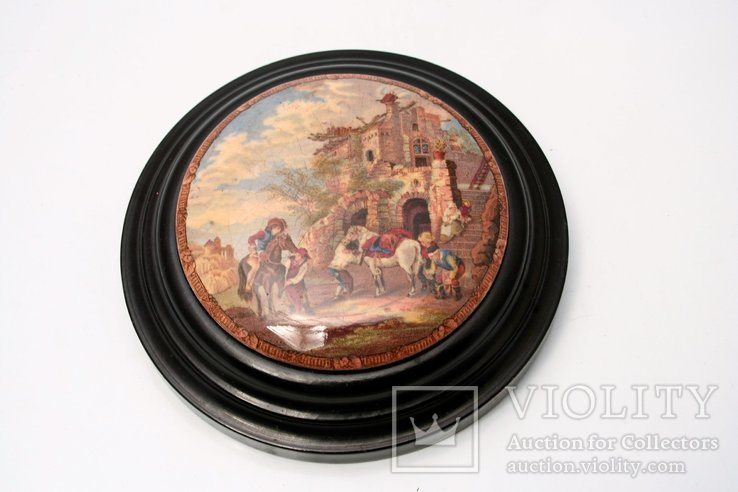 Emaliowana miniatura na ceramice