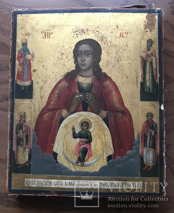 Икона ХІХ век. Богородицы «Помощница в родах»