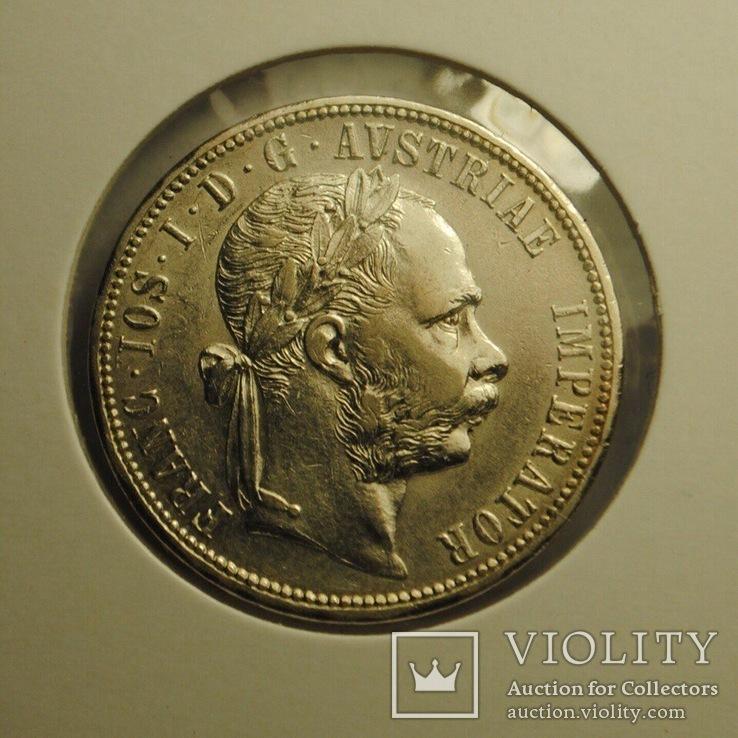 1 флорин Австрия 1879 AU (Штемпельный блеск)
