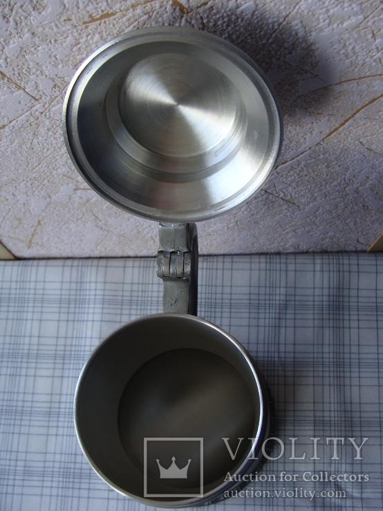 Большая Кружка Бокал из олова Серия Выдающиеся художники Карл Шпицвег. Клеймо., фото №7