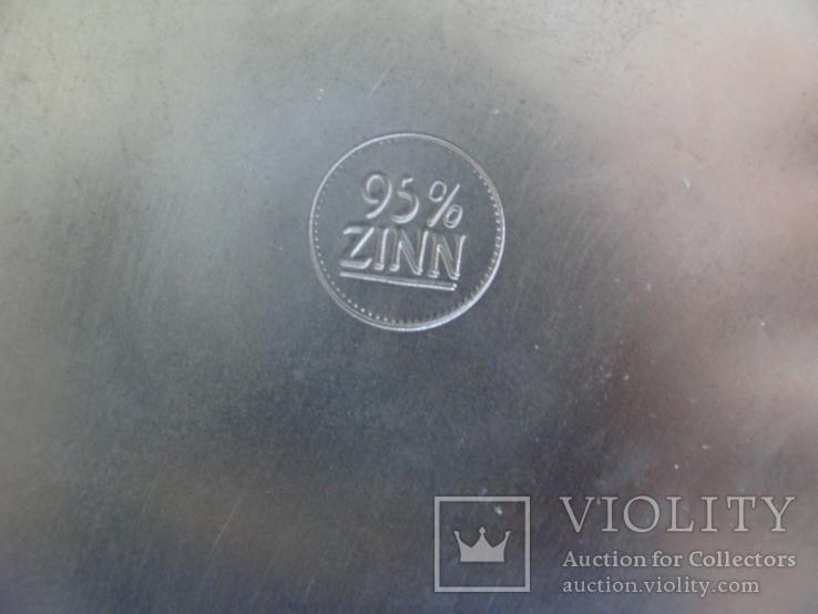 Большая Кружка Бокал из олова Серия Выдающиеся художники Карл Шпицвег. Клеймо., фото №8