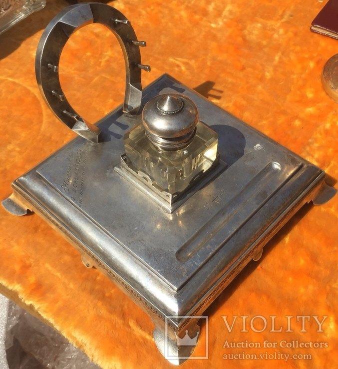 Чернильный прибор РИ серебро 84* (475 грамм)