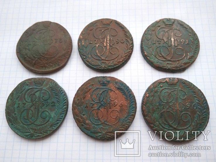 6 монет Екатерины 2