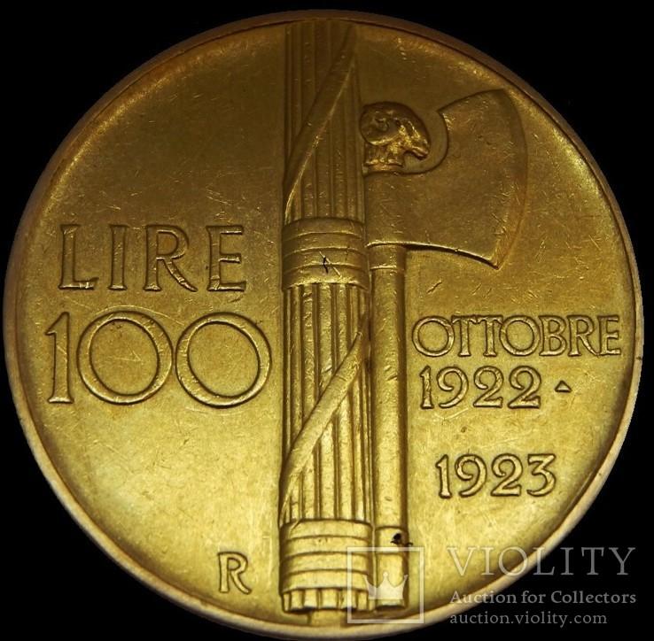 100 лір 1923 року, Італія, золото, Vittorio Emanuele ІІІ