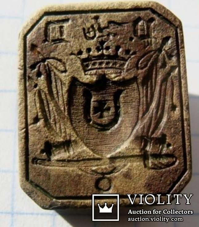 Печать с гербом Ястребец 18 век