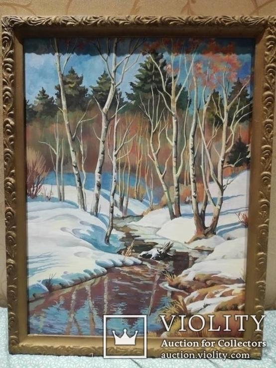 Пейзаж зима 50x66