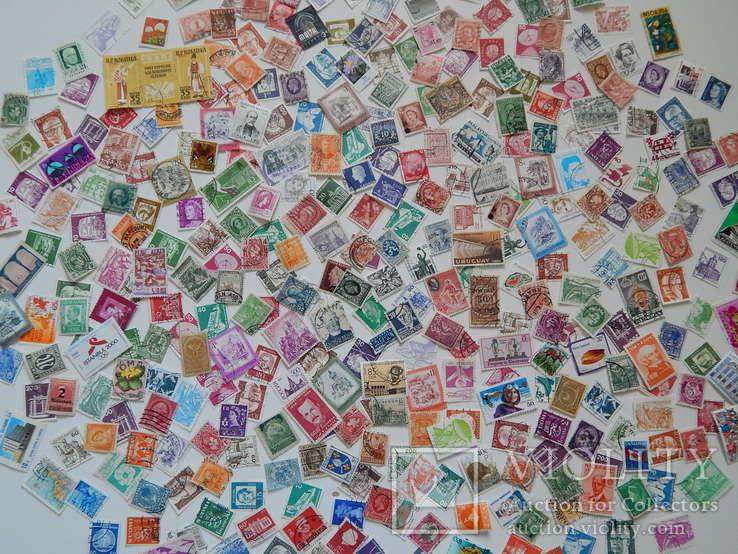 Марки разных стран и периодов 400 шт