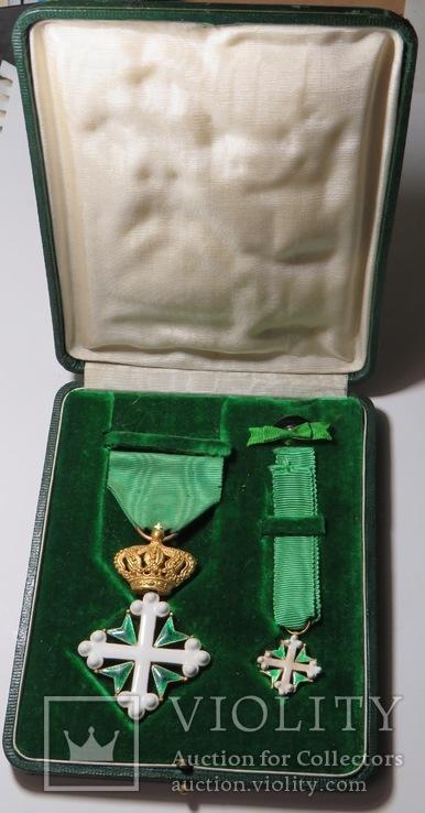 Итальянский  орден Св. Мауриция и Св. Лазаря,с миниатюрой ордена., фото №2