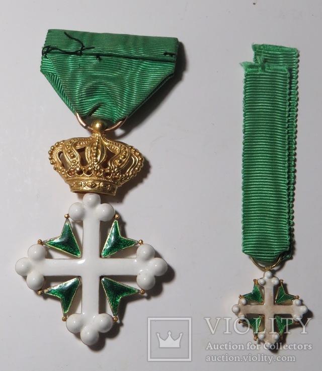 Итальянский  орден Св. Мауриция и Св. Лазаря,с миниатюрой ордена., фото №3