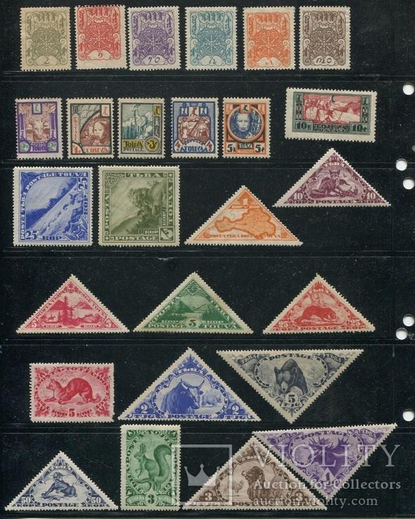 Тува коллекция чистых марок 56 шт без повторов - много фото