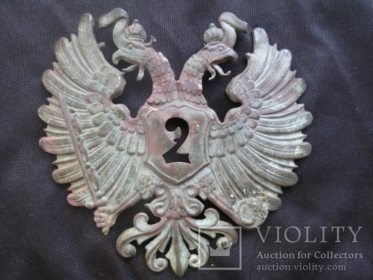 Орел на шако гусара 2 полка , Австро-Венгрия.
