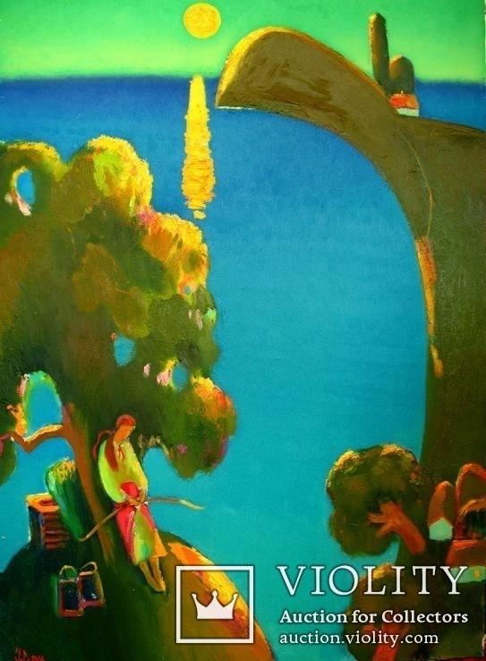 Вечір. Там дівчина воду брала. Полотно, олія, 94Х67, 2004 р.